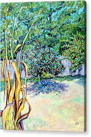 Acrylic Print featuring the painting Corn Stalk And Apple Tree  Autumn Lovers by Asha Carolyn Young