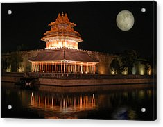 Acrylic Print featuring the photograph Corner Of Forbidden City by Yue Wang