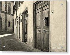 Corner Of Volterra Acrylic Print