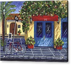 Acrylic Print featuring the painting Corner Store by Val Miller