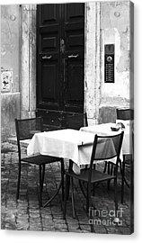 Corner Table Acrylic Print by John Rizzuto