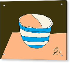 Cornish Bowl Acrylic Print by Anita Dale Livaditis