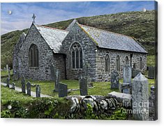 Cornish Seascape St Winwaloe Church Acrylic Print by Brian Roscorla