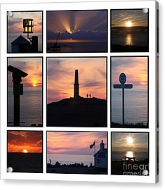 Acrylic Print featuring the photograph Cornish Sunsets by Terri Waters