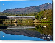 Cornish Windsor Covered Bridge Acrylic Print by Edward Fielding
