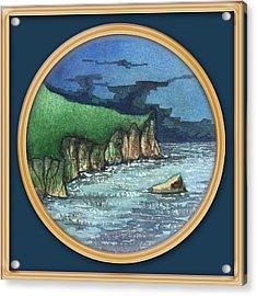 Cornwall Cliffs Acrylic Print
