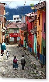 Coroico Street Scene Acrylic Print
