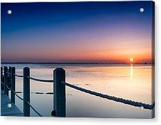 Corolla North Carolina Sunset Acrylic Print