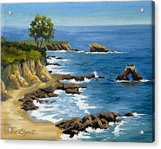 Corona Del Mar California Acrylic Print by Alice Leggett