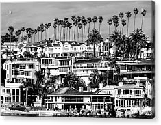 Corona Del Mar California Black And White Picture Acrylic Print by Paul Velgos
