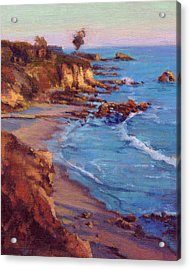 Acrylic Print featuring the painting Corona Del Mar by Konnie Kim