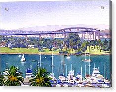 Coronado Bay Bridge Acrylic Print by Mary Helmreich