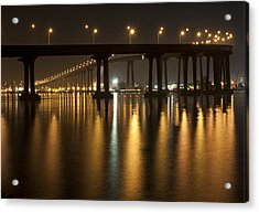 Coronado Bridge At Night Acrylic Print