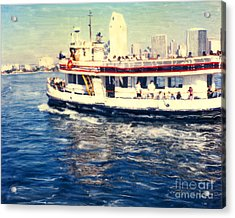 Coronado Ferry - Horz. Acrylic Print