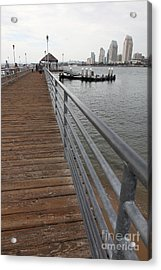 Coronado Pier Overlooking The San Diego Skyline 5d24354 Acrylic Print by Wingsdomain Art and Photography