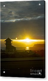 Coronado's Beach At Sunset Acrylic Print by Claudia Ellis