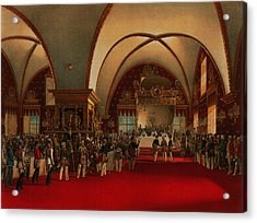 Acrylic Print featuring the digital art Coronation Banquet by Vasily Timm