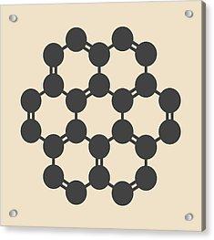 Coronene Hydrocarbon Molecule Acrylic Print by Molekuul