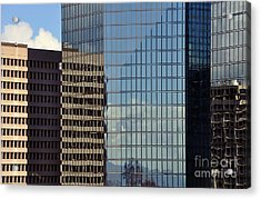 Acrylic Print featuring the photograph Coroporate Rise by Gina Savage