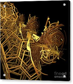 Corporate Ladder By Jammer Acrylic Print by First Star Art