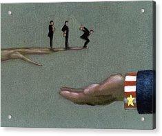 Corporate Welfare Acrylic Print by Tim Teebken