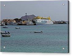Corralejo Harbour Acrylic Print