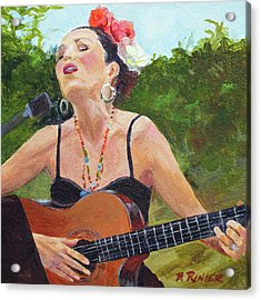 Corrido Acrylic Print by Bonnie Rinier
