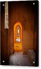 Corridor In The Real Alcazar Of Seville Acrylic Print by Artur Bogacki