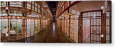 Corridor Of A Prison, Alcatraz Island Acrylic Print by Panoramic Images