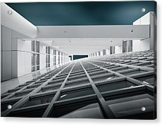 Corridors Of Power Acrylic Print by Michiel Hageman