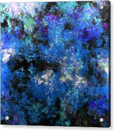 Corrosion Bleue Acrylic Print by RochVanh