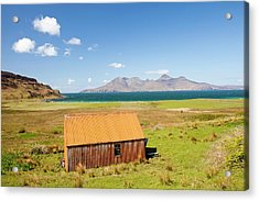Corrugated Iron Barn At Cleadale Acrylic Print by Ashley Cooper