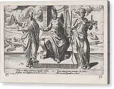 Corrupt Rulers And The Spanish Inquisition Commit Murder Acrylic Print by Dirck Volckertsz Coornhert And Adriaan De Weerdt And Hendrick Hondius I