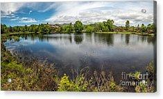 Cors Bodgynydd Reservoir Acrylic Print by Adrian Evans
