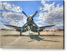Corsair On The Flight Line At Reno Air Races Acrylic Print