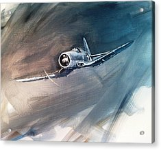 Acrylic Print featuring the painting Corsair Sketch 1 by Stephen Roberson