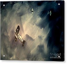 Acrylic Print featuring the painting Corsair Sketch 2 by Stephen Roberson