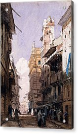 Corso Saint Anastasia, Verona Acrylic Print by Richard Parkes Bonington