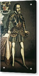 Cort�s, Hern�n 1485-1547. Painting Acrylic Print by Everett