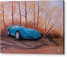 Corvette 1974 Acrylic Print by Jane Landry  Read