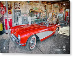 Corvette At Hackberry General Store Acrylic Print