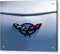 Corvette C5 Badge Acrylic Print by Douglas Pittman