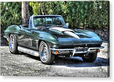 Acrylic Print featuring the photograph Corvette Convertible by Victor Montgomery
