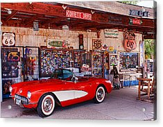 Corvette Drive Rt 66 Acrylic Print
