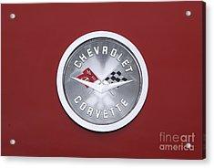 Corvette Emblem Acrylic Print by Neil Zimmerman