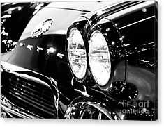 Corvette Picture - Black And White C1 First Generation Acrylic Print