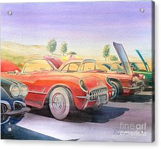 Corvette Show Acrylic Print by Robert Hooper