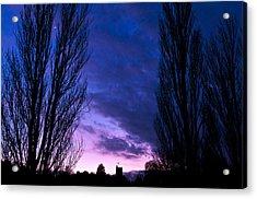 Cosgrove Sunset With Moon Acrylic Print