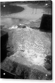 Cosley Mill Rapid In Black And White Acrylic Print