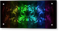 Cosmic Alien Eyes Pride Acrylic Print by Shawn Dall
